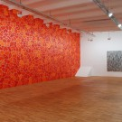 Ekrem Yalcindag, 765 Mal Rot und GRI GRAU GREY, 2008, Öl auf Leinwand 180 x 160 cm