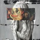 """ANDREAS DIEFENBACH """"Aus der Serie Futuristischer Kapitalismus: Kapitalistischer Futurismus"""", 2009, Collage, Acryl, Vinylfarbe und Lack auf MDF,  41 x 31 cm"""