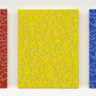 "Ekrem ""Red, Yellow and Blue"", 2013, Oil on Canvas, each 35 x 27 cm"