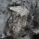 Franziska Kneidl, G. B., 2017, Acryl, Öl und Lack auf Kunststoff und Papier / Acrylic, oil and lacquer on plastic film and paper, 30 x 21 cm